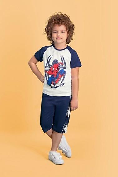 Spider-Man Spider Man Lisanslı Krem Erkek Çocuk Kapri Takım Krem